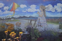"""Mural: Ode to Old Town     144x 240""""   Acrylic on Cement  2015"""