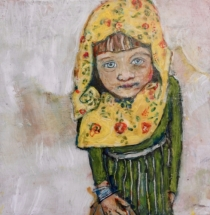 """""""Prelude to Missing Mamma #2"""" Acrylic on Wood,  10 by 10"""" Sold"""