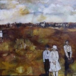 """<u>""""With One Fading Away"""" 48 x72"""" Oil on Canvas 1995</u><i>gifted</i>"""
